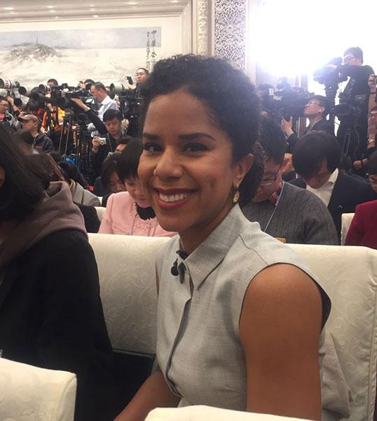 美國哥倫比亞廣播公司記者安瑞琳
