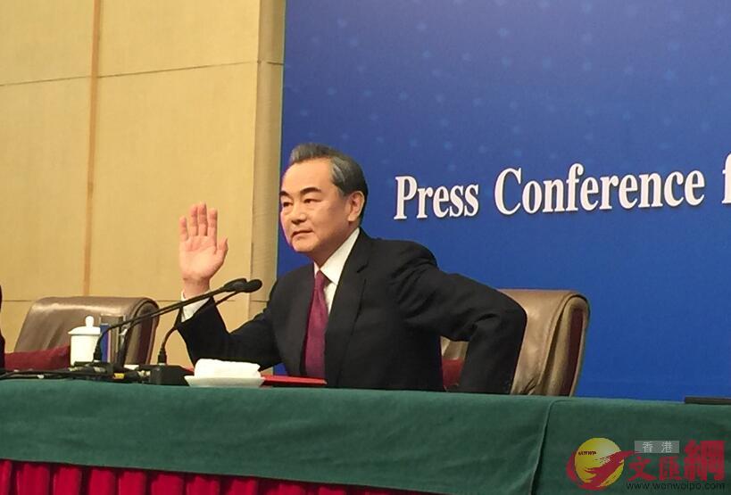 外交部部長王毅。香港文匯網記者葛沖攝