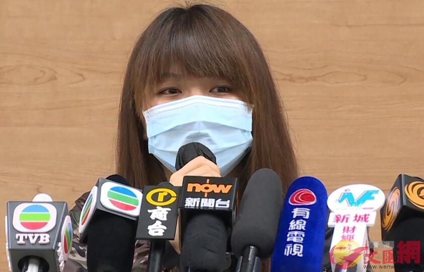 捐出三分之二肝臟的鄭凱甄21日見記者(網絡圖片)