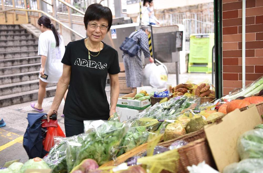 香港顧客選購跨境蔬菜