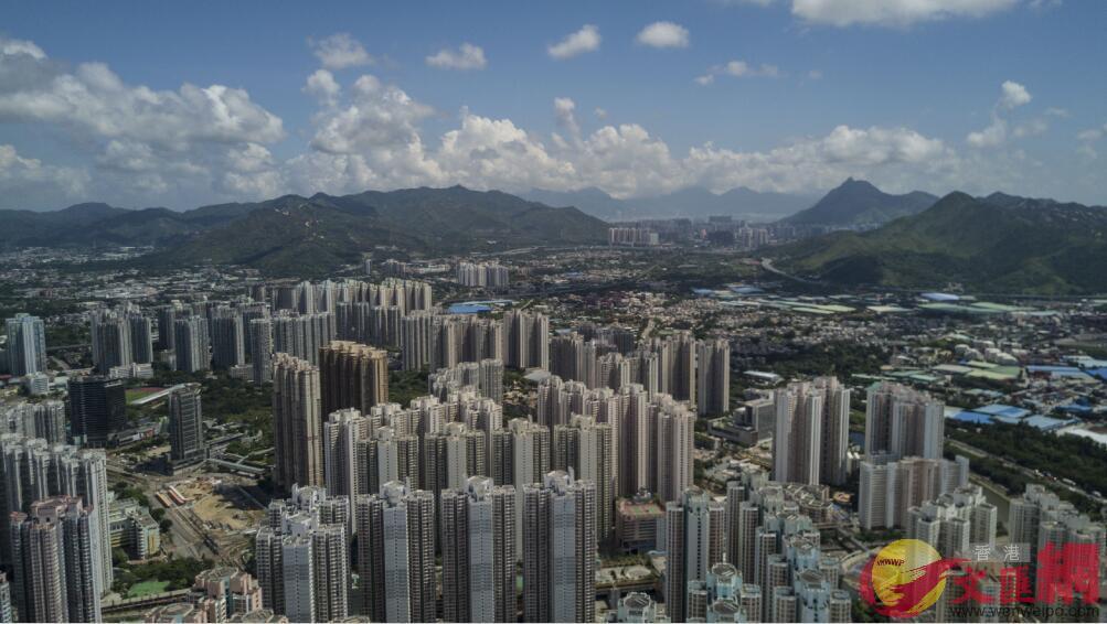香港天水圍一帶的建築物