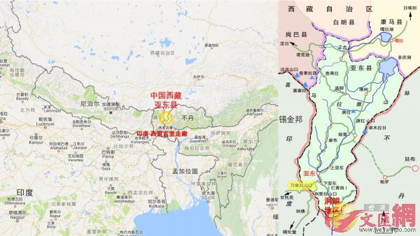 此次事件發生地位於西藏亞東縣最南端的洞朗地區。