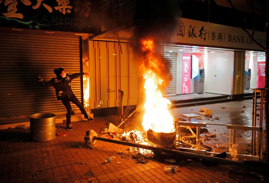 2016年2月初爆發旺角暴亂(資料圖片)
