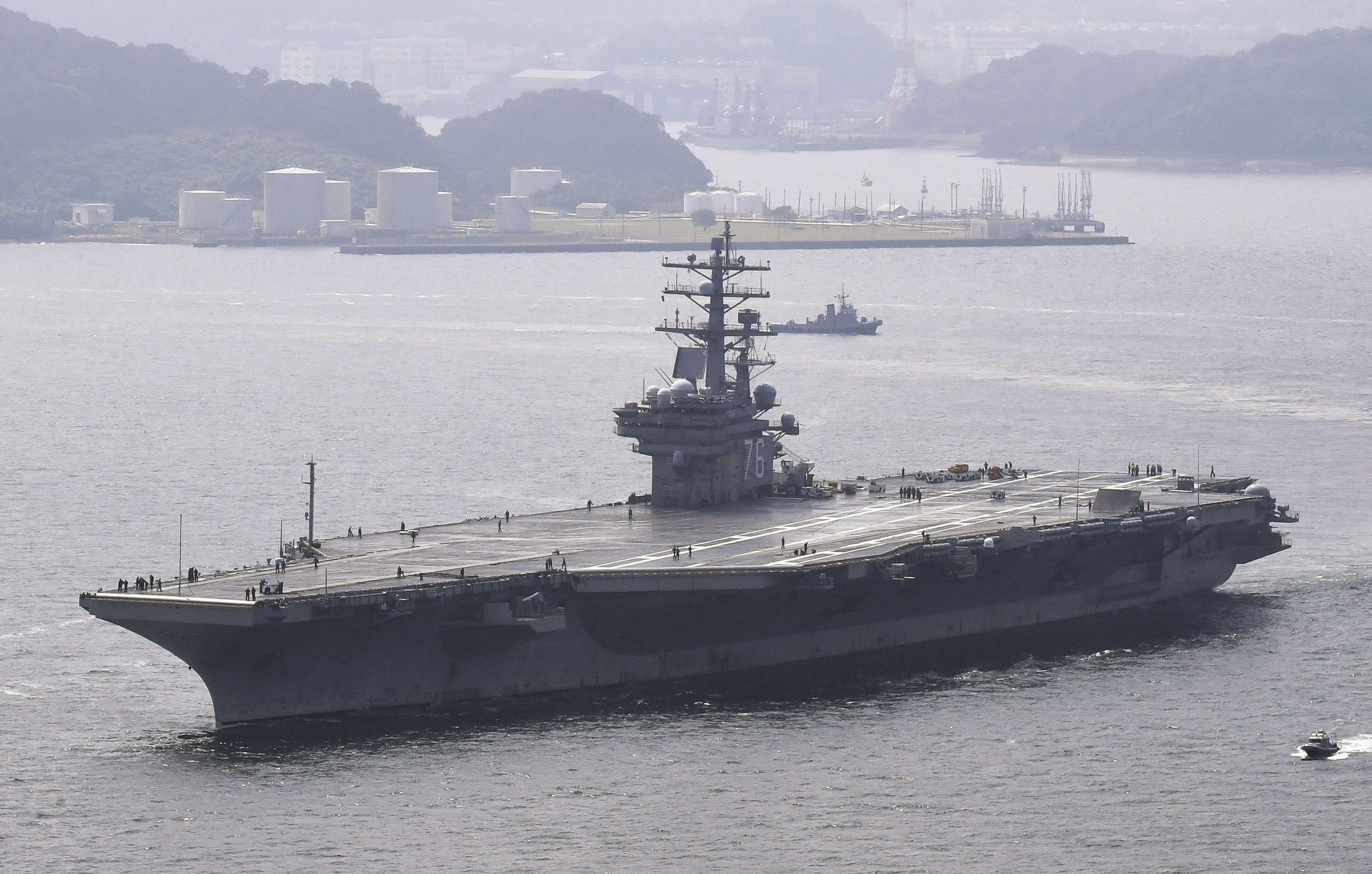 美國航母「列根號」(資料圖片)