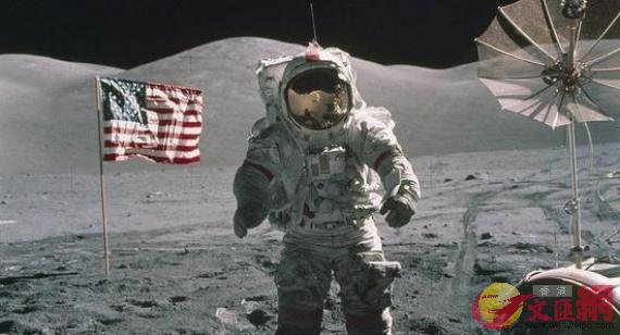 美宇航員登月資料圖。
