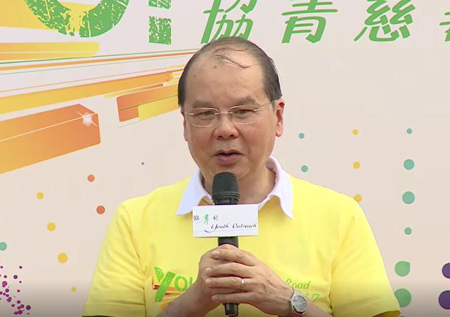 張建宗今早(7日)出席活動時表示,「球迷」噓國歌的情況絕對不能接受。(視頻截圖)
