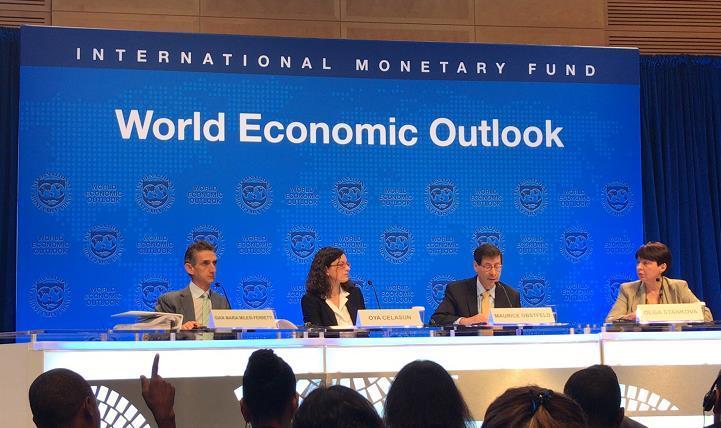 國際貨幣基金組織今發佈《世界經濟展望報告》
