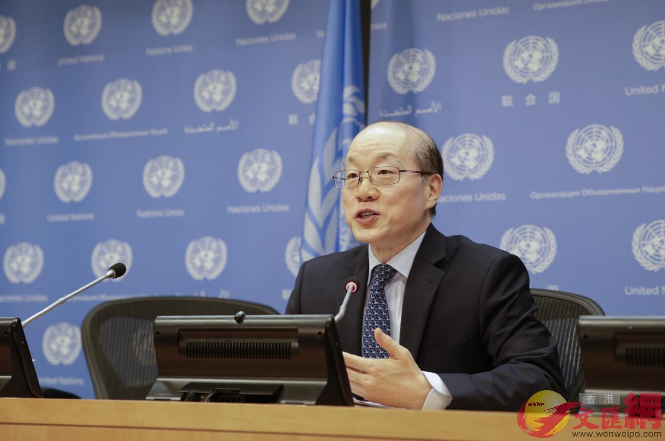 2017年7月3日,時任聯合國安理會7月輪值主席、中國常駐聯合國代表劉結一在紐約聯合國總部主持安理會磋商。