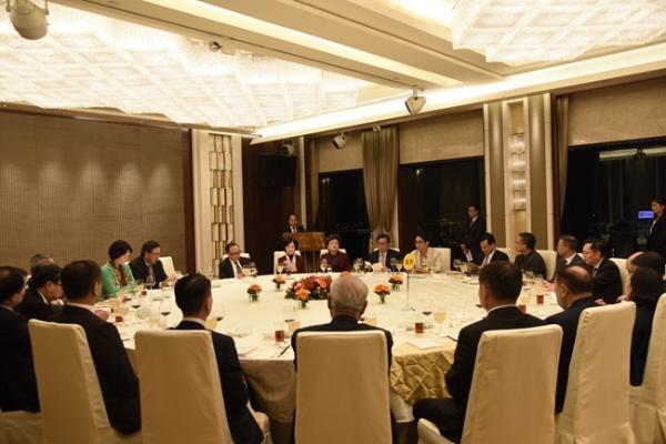 晚宴現場。(圖片來源:中央政府駐港聯絡辦)
