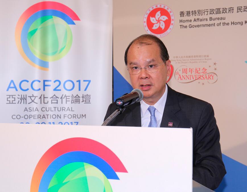 11月28日,張建宗出席由民政事務局主辦的「第十屆亞洲文化合作論壇」(政府新聞處)