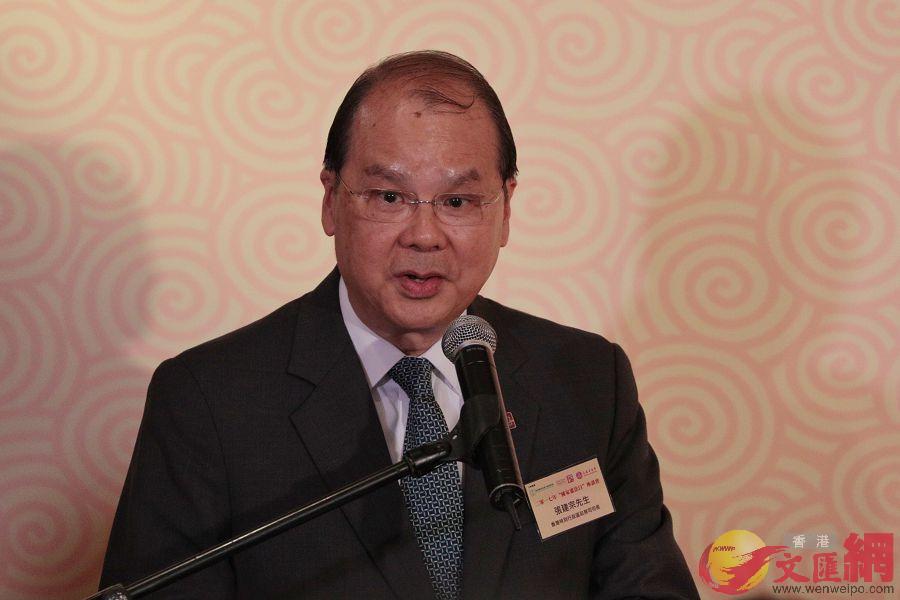 張建宗表示,憲法不折不扣是香港基石(全媒體記者麥鈞傑攝)