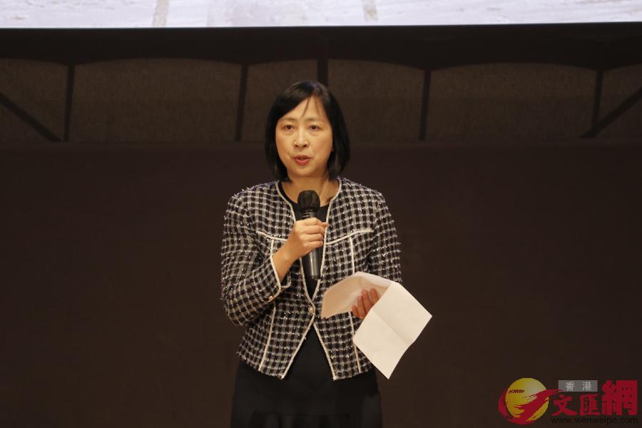 香港康文署署長李美嫦為講座致開幕詞