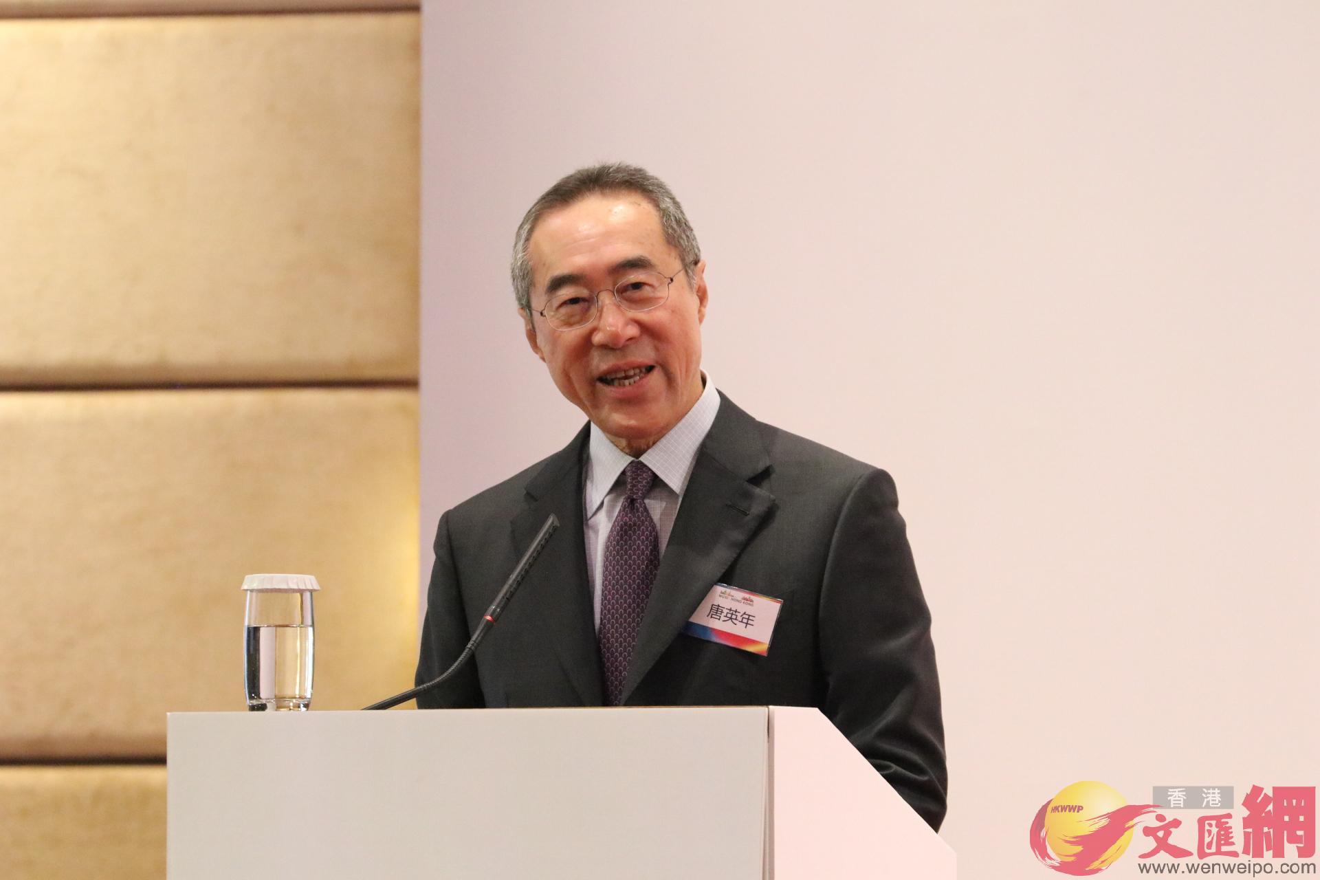 全國政協常委、香港江蘇社團總會會長唐英年致辭