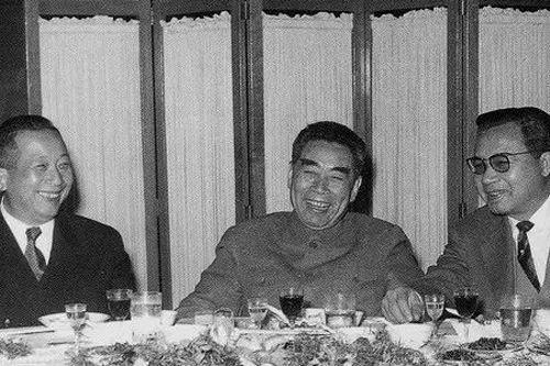 1963年3月,周恩來設宴歡迎訪華的老撾國王瓦達納。