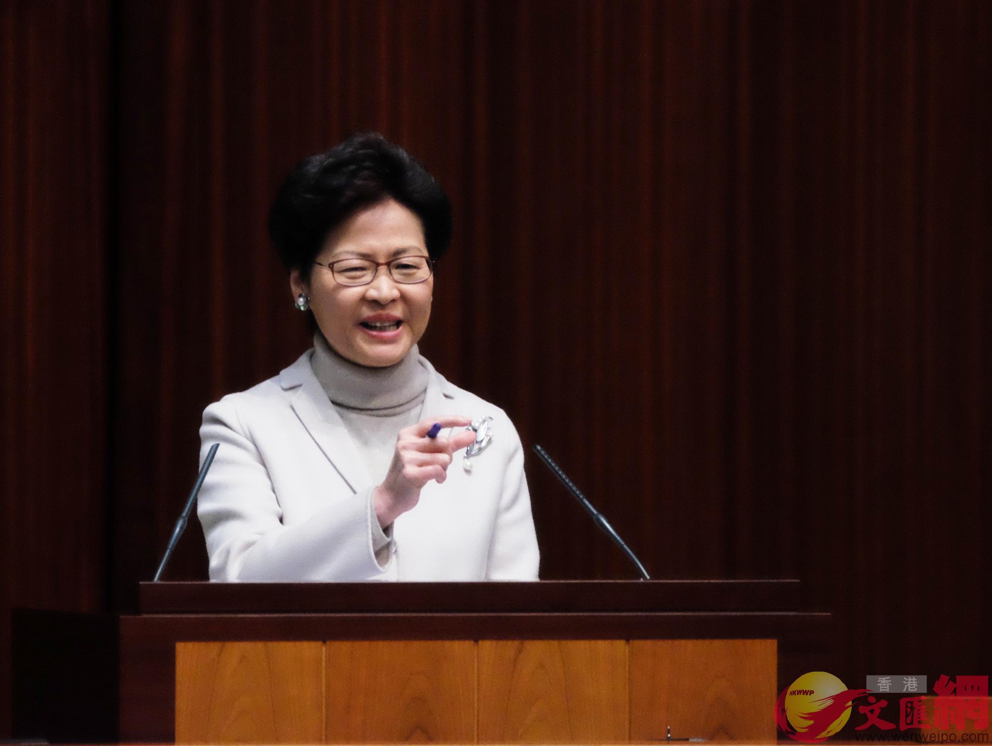 林鄭表示,相信中央將推更多措施,便利港人內地生活。(大公文匯全媒體記者麥鈞傑攝)