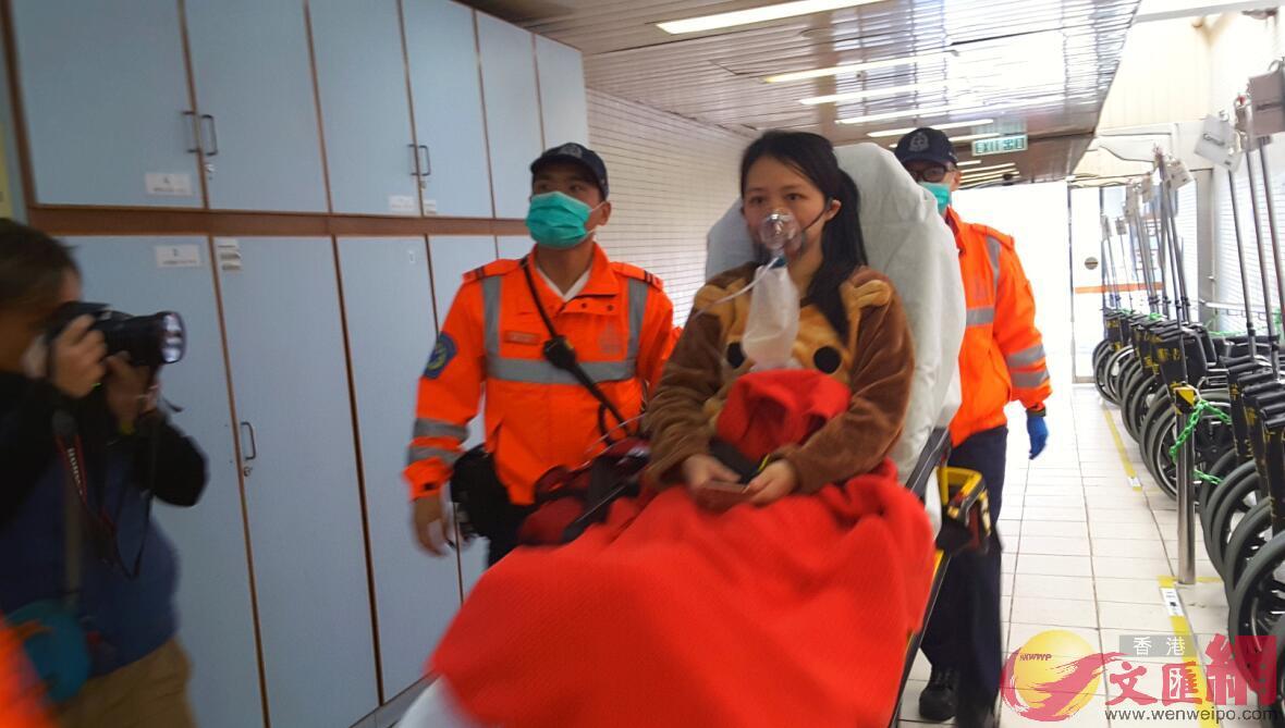 旺角荔枝角道縱火案中傷者送院。