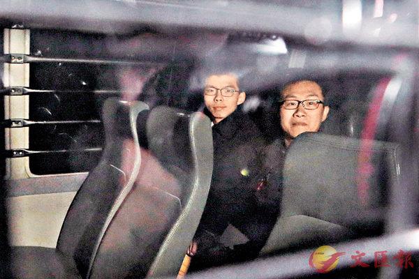 ■ 黃之鋒(左)、黃浩銘(圖片來源:美聯社)