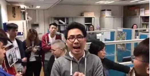 陳樂行參加「抵制普通話考試」直播截圖(視頻截圖)