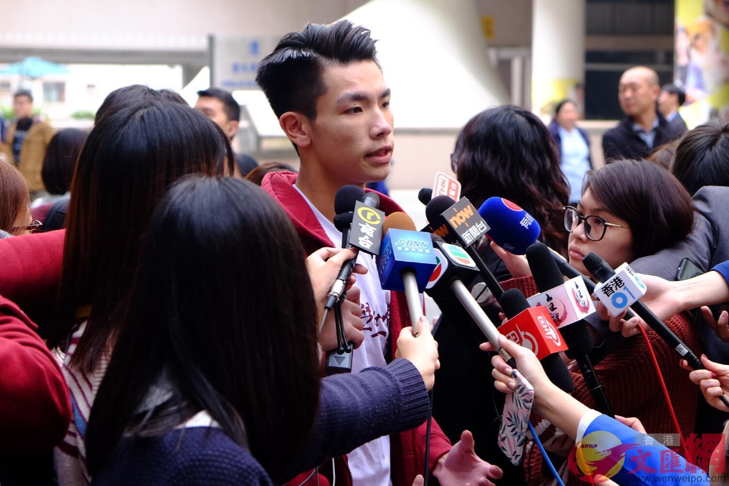 学生会会长刘子颀指「占领」是「成功的」.