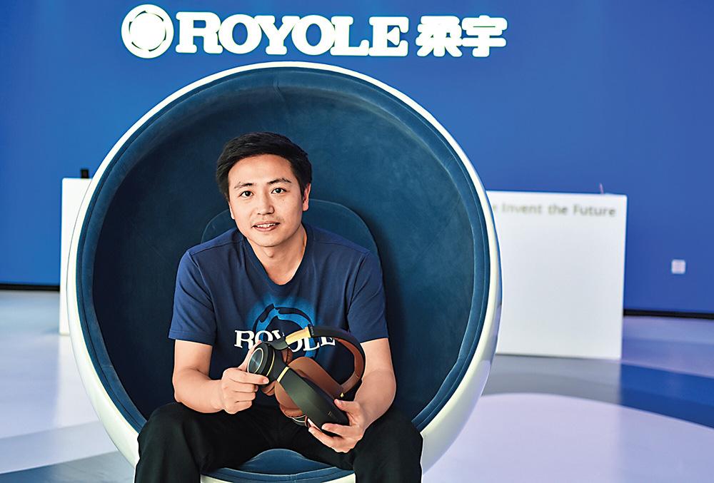 劉自鴻在深圳的柔宇科技總部 新華社