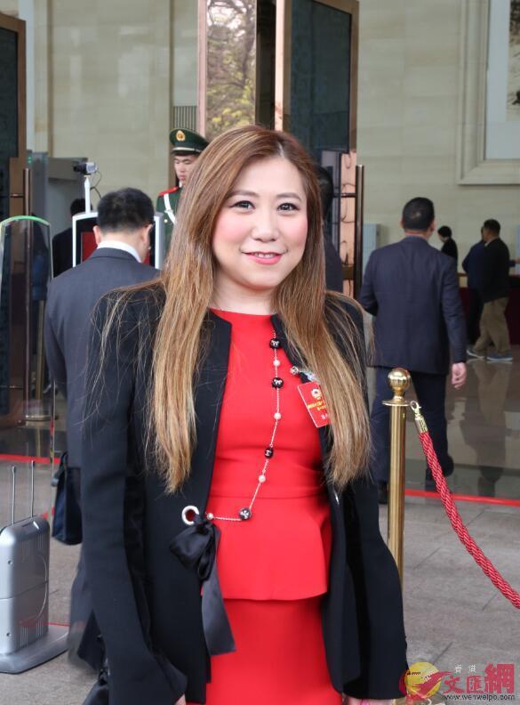 香港中國商會創會會長、港區政協委員陳丹丹 胡若璋攝