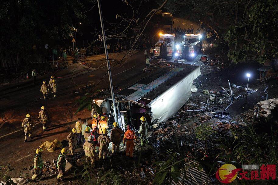 大埔公路10日九巴翻車意外導致19人死亡(資料圖片 全媒體記者麥鈞傑攝)