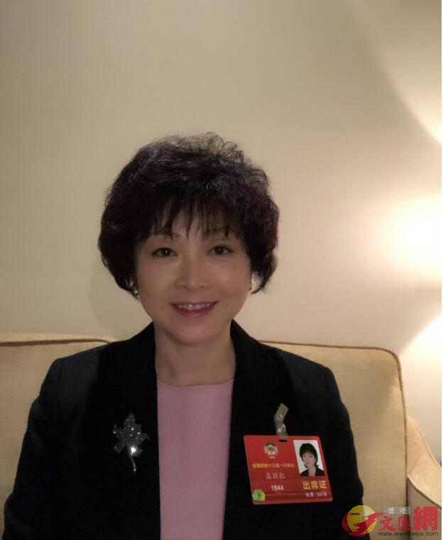 全國政協委員、祈福國際集團副董事長孟麗紅指出,香港可在大灣區建設中為國家作出新貢獻(受訪者供圖)