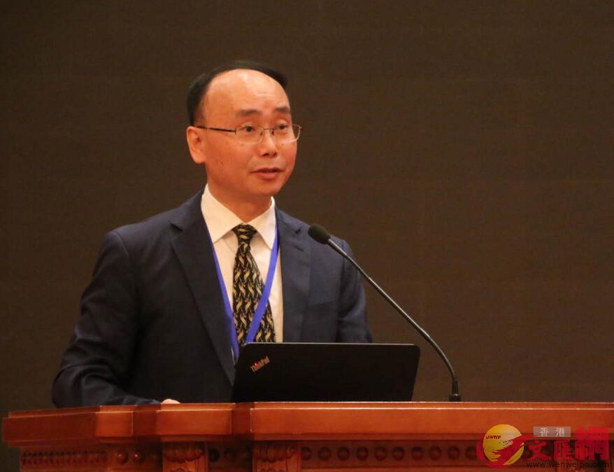 廈門大學教授、兩岸關係和平發展協同創新中心執行主任劉國深(何德花 攝)