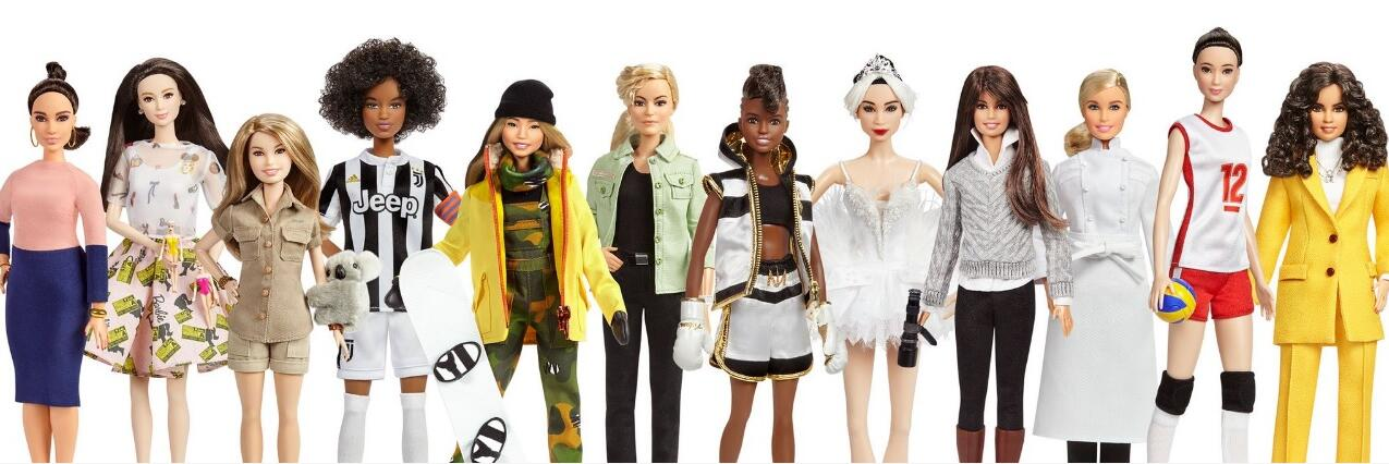 玩具公司Mattel推出17款新芭比娃娃,表揚全球女性典範(芭比娃娃官網截圖)