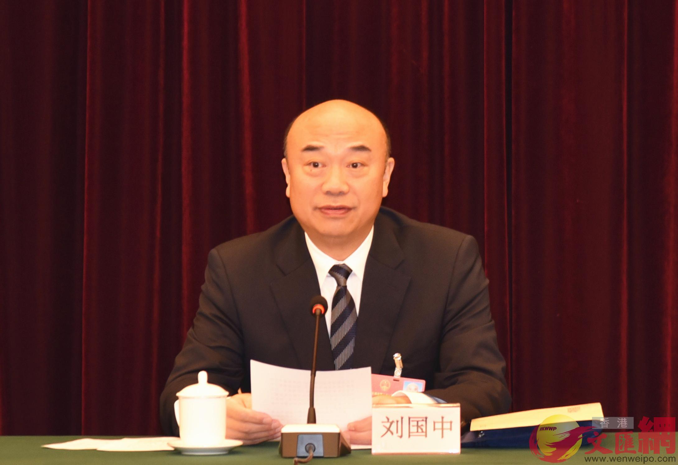 全國人大代表、陝西省省長劉國中(記者 李陽波 攝)