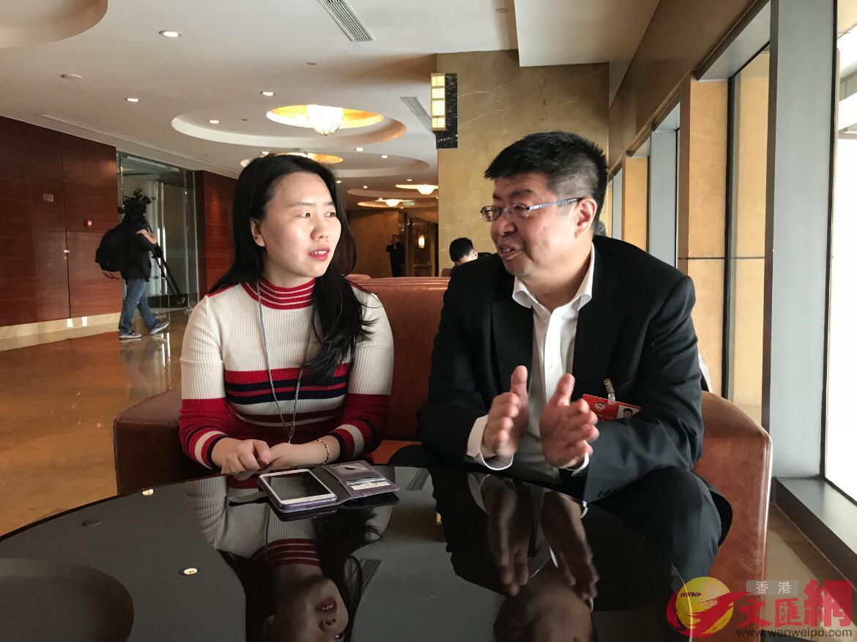 人民政協報楊雪約訪全國政協委員、北大教授張頤武(凱雷 攝)