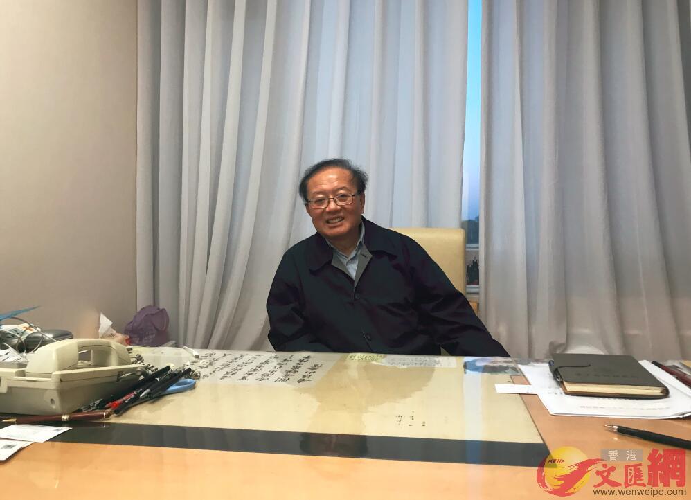 魏建國比喻香港是粵港澳大灣區的「龍眼」(記者 凱雷 攝)