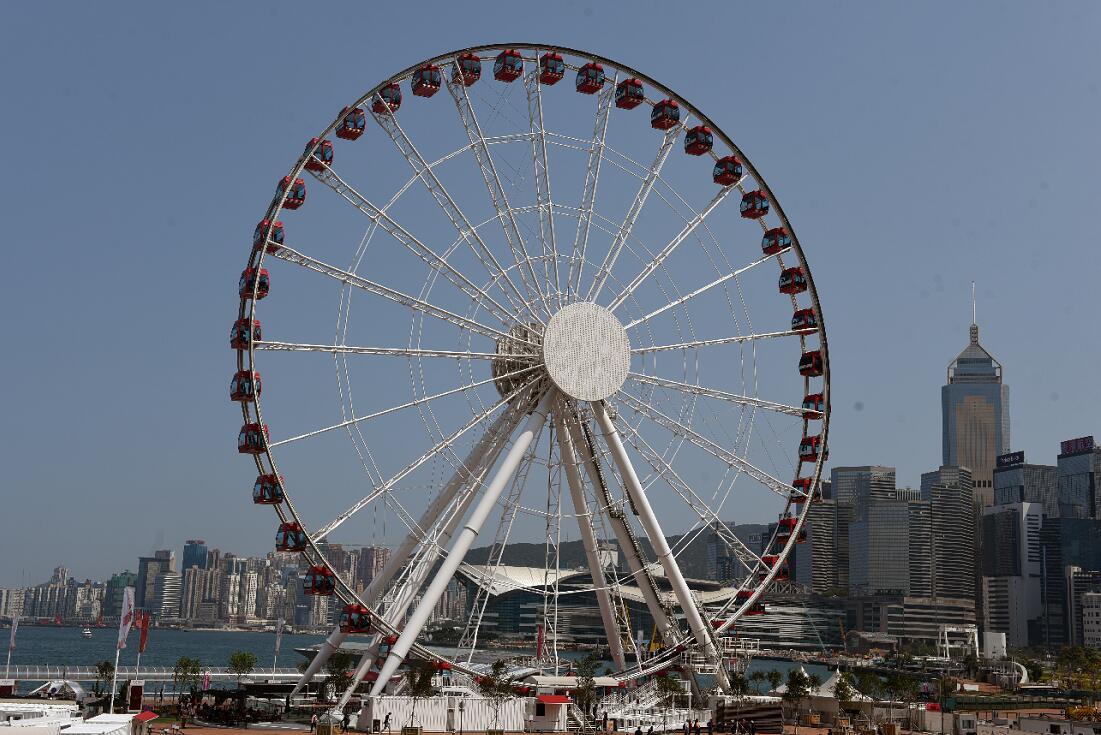 香港中環摩天輪重開3個月 50萬人次乘搭