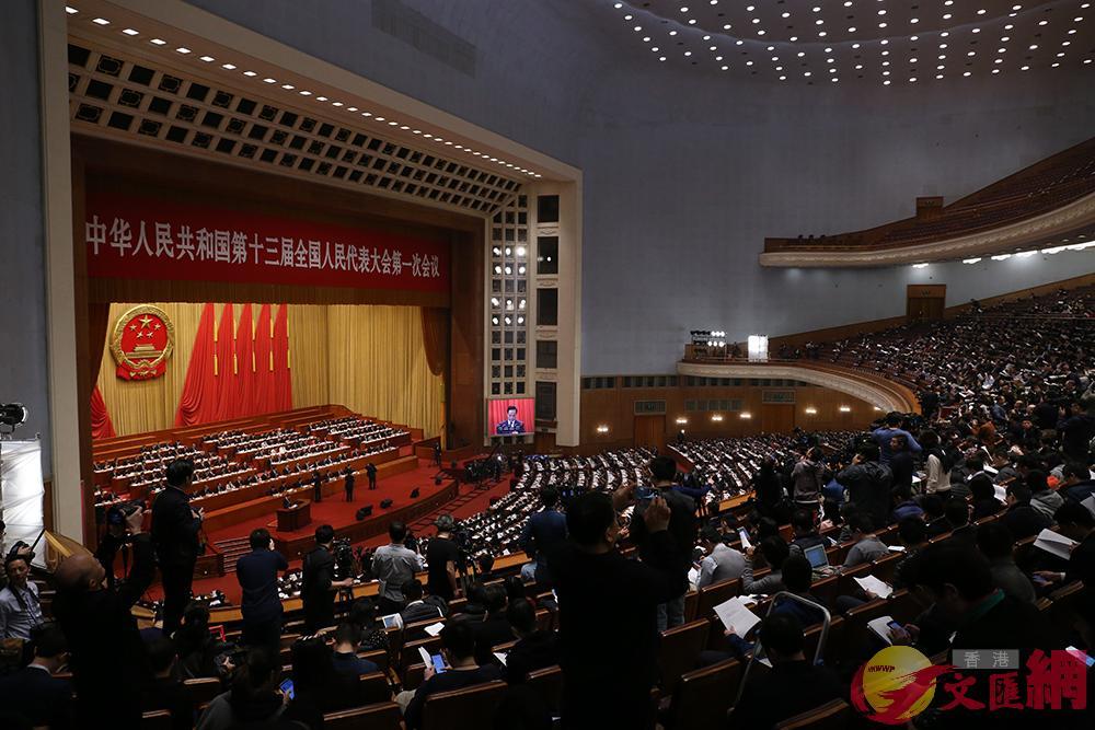今天,國務院機構改革方案提請十三屆全國人大一次會議審議。記者 何嘉駿攝
