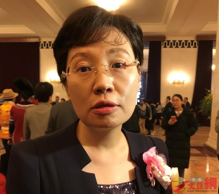 全國人大代表、上海市工商聯副主席樊芸,俞晝攝\