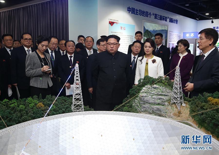 金正恩參觀「率先行動砥礪奮進——十八大以來中國科學院創新成果展」。