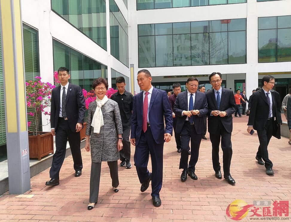 林鄭月娥出席港中大(深圳)祥波書院成立典禮