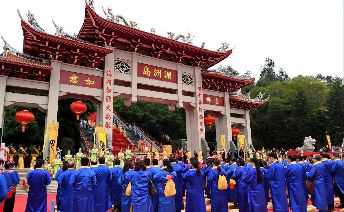 湄洲島舉行的媽祖祭典活動(新華社資料圖片)