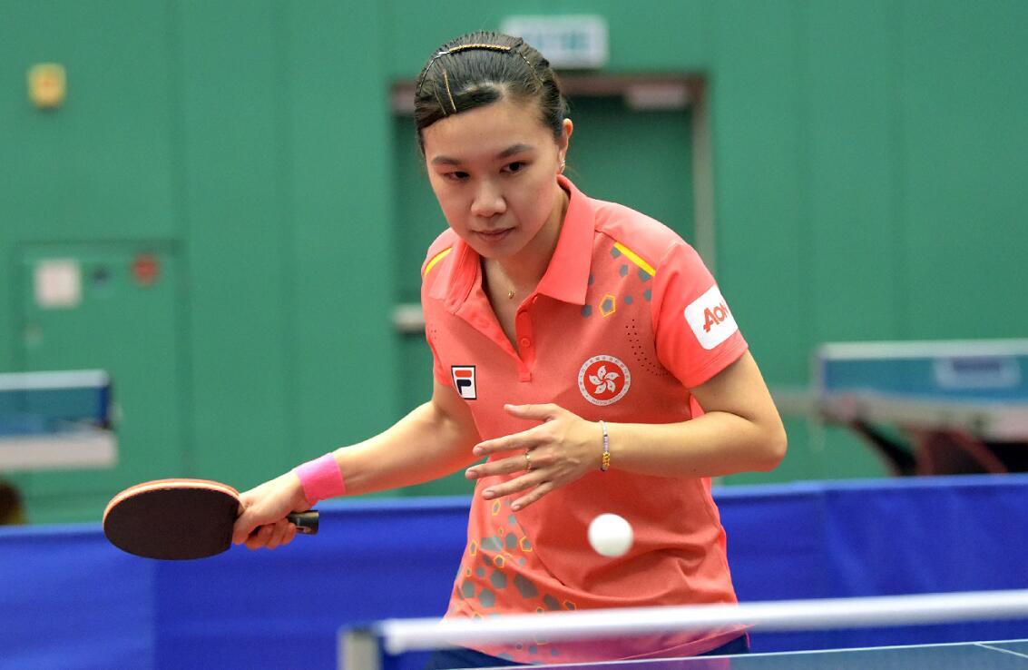 香港乒乓球選手李皓晴在加緊訓練