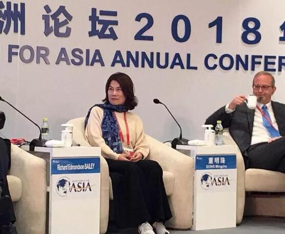 9日格力電器董事長董明珠亮相博鰲亞洲論壇。