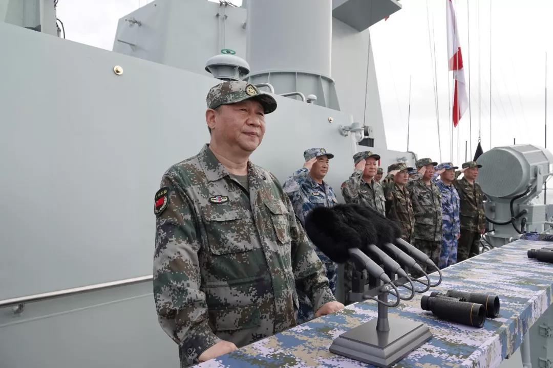 中共中央總書記、國家主席、中央軍委主席習近平檢閱部隊並發表重要講話。