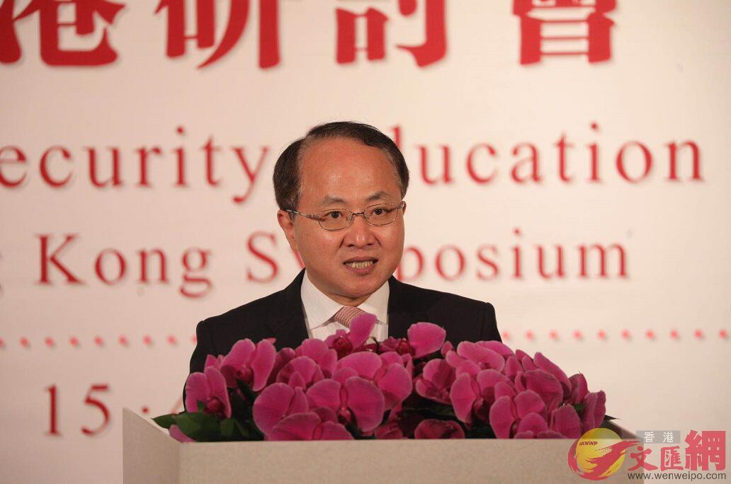 王志民指出,在國家安全問題上,沒有「兩制」之分,只有「一國」之責。 (全媒體記者麥鈞傑攝)