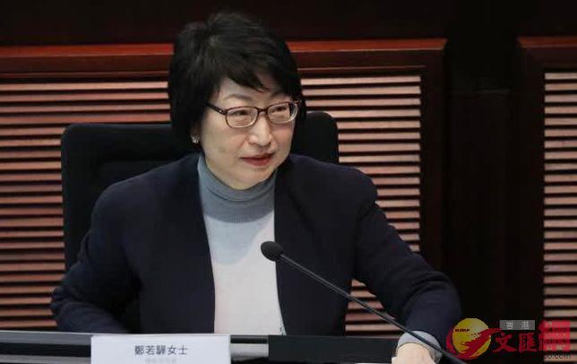 鄭若驊表示,相信特首會在適當時機提出23條立法(文匯報資料圖片)
