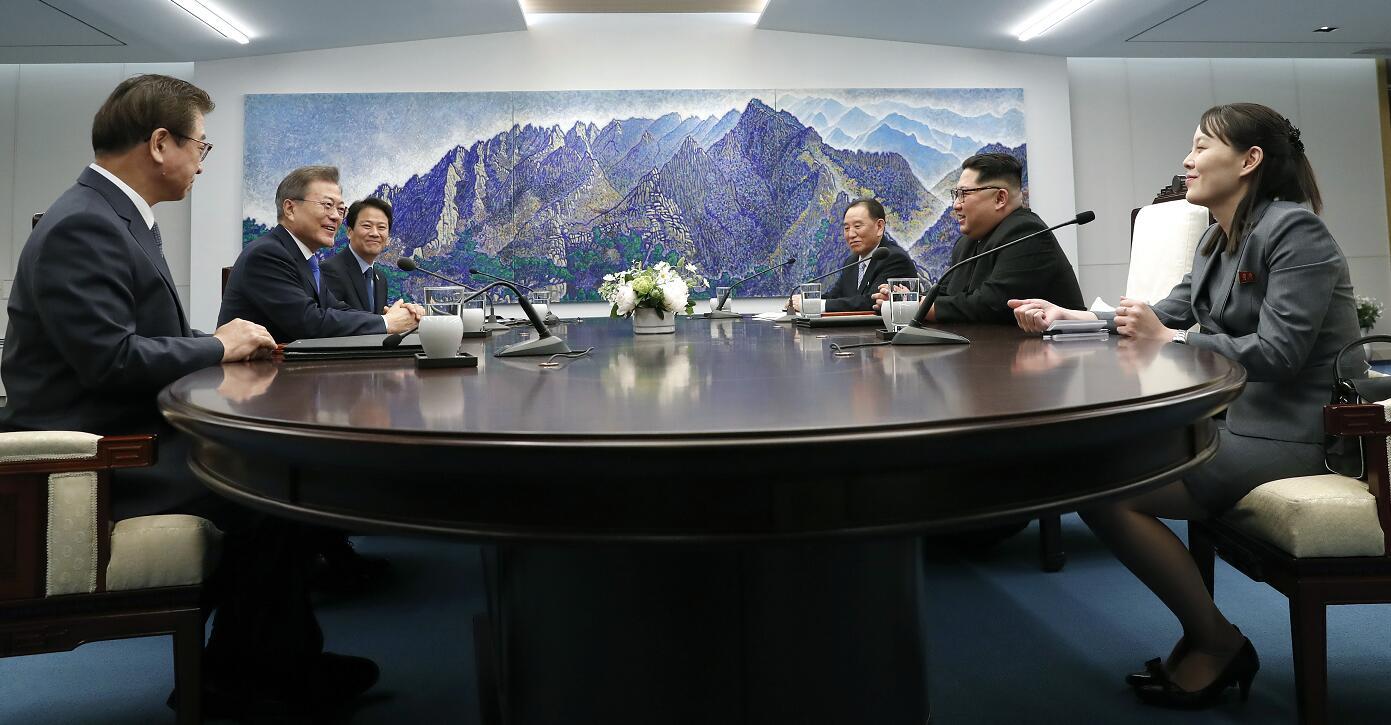 金正恩與文在寅在板門店韓方「和平之家」舉行會談