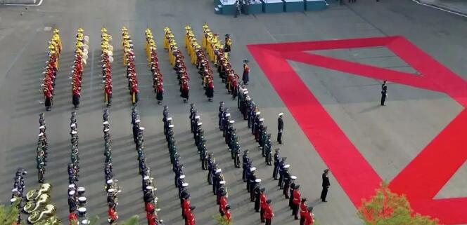 韓國儀仗隊(電視截圖)