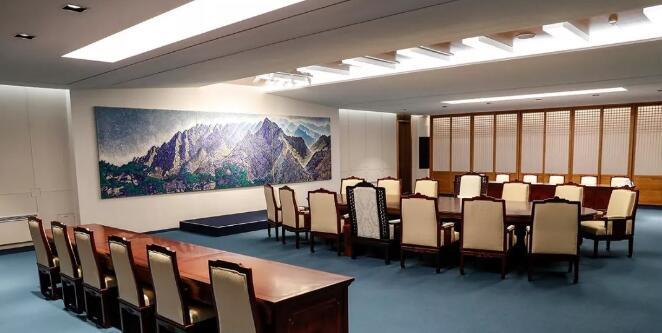 會談在「和平之家」二樓會議室舉行(資料圖片)
