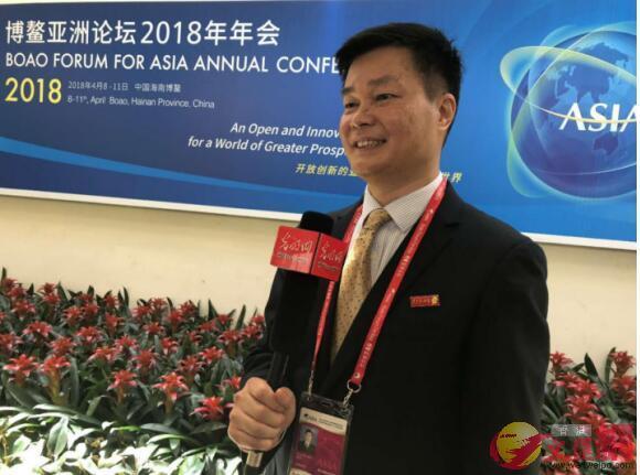 雲聯惠董事長黃明在博鰲亞洲論壇2018年年會上 網上圖片