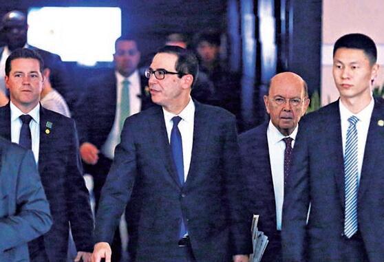 圖:5月3日至4日,美國財長姆努欽率美方代表團訪華,與中方磋商貿易議題\路透社