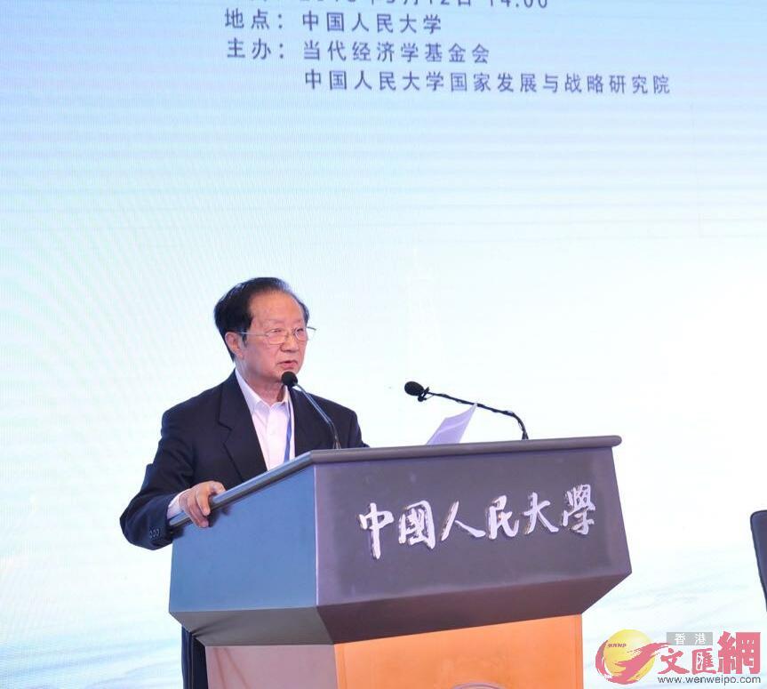 陳清泰建議要建立以財務約束為主線的有效國有資本委託代理體制(記者張帥攝)