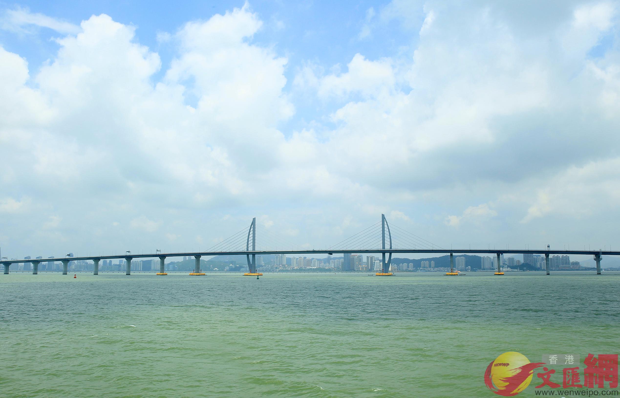 全視角欣賞「世界最長跨海大橋」帶來的震撼視覺盛宴。(記者 方俊明 攝)